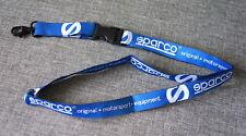 Genuine SPARCO Motorsport Blue Neck Strap Lanyard Keychain Keyring Badge Holder