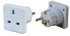 PMS UK to Euro Electrical Plug Wall Adapter Use in Europe Top Quality Twin Pack
