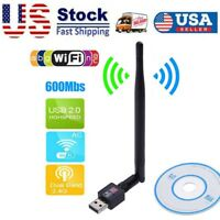 600Mbps 802.11N/G/B USB 2.0 WiFi Antenna Wireless Network LAN Card Adapter USA