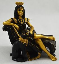 Superb Egyptian Queen Cleopatra with Cat Statue/Figurine/Ornament Gift/Present