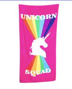 Unicorn Squad beach towel 30in x 60in w
