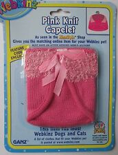 x pink knit capelet fits most WEBKINZ cat dog pet CLOTHING new with code