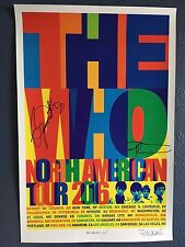 The Who Hits 50 RARE *2016* Tour Poster Signed by Roger Daltrey & Pete Townshend