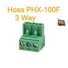 Hosa PHX-100F vrac 3 pôle femelle Phoenix Euroblock Remplacement Connecteur