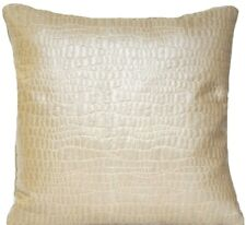 Beige Cushion Cover Osborne And Little Woven Silk Fabric Square 16""