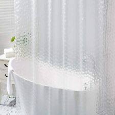 Shower Curtain Liner Clear Hooks Grommets Bathroom Home Bath Room 72x72 Inch