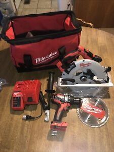 """Milwaukee M18 Brushless 7 1/4""""  Cir. saw 1/2"""" Hammer drill W/charger No Battery"""