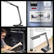 Metal LED Desk Lamp Office Table Light with 5V/2A USB Port 5 Color Mode Lighting