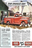 1950s FORD TRUCK CHICKEN BARN WORKER CAR HOUSE YARD Ads Vintage Postcard #138