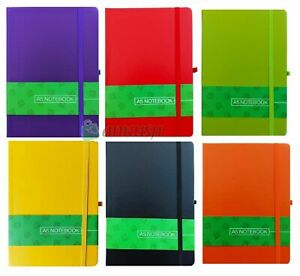 A4/A5/A6 New Hardback Lined Notepad Notebook Note Book Notes Journal Diary