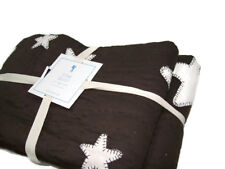 Pottery Barn Kids Multi Colors Brown Ivory Star Stars Cotton Twin Quilt New