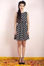 Geometric Polyester Blouson Dresses for Women
