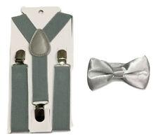 Kid Children Boy Braces + Bow tie 2 Pcs Set Suspender Wedding UK
