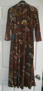 NEW ~ Paisley mandarin collar Dress ~ Size 10