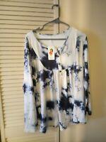 Vislily Tye Dye Women's Size 18W Long Sleeve top