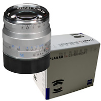 New ZEISS Planar T * 50mm f2 ZM Mount Manual Focus Lens - SILVER Made in Japan