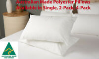 Australian Made 1-pack, 2-Pack, 4-Pack Low|Medium|High Profile Polyester Pillow
