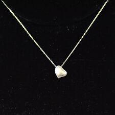 Tiffany & Co Elsa Peretti Sterling Silver Full Heart Pendant Necklace