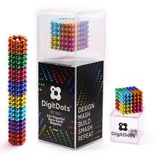 BrainSpark DigitDots Multi Colored 224 Pcs 5mm Magnetic Balls 8 Colors Fidget