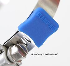 ATV Radiator Relocation Kit Blue Hose Clamp End Caps by CLAMP-AID for Yamaha