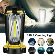 3 in 1 LED Camping Lantern Portable Light Outdoor Hiking Work Lamp Rechargeable