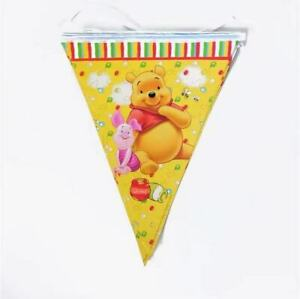 10 Winnie The Pooh Birthday Party Hanging Flag Disney Banner Decoration Bunting