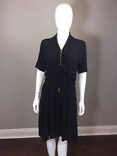 Sonia Rykiel Black Silk Blend Dress Sz 38