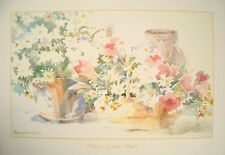 Nancy Lund Print - 1980's estampado de flores, 63x44cm, Misty By Nancy Lund
