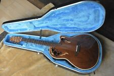 Ovation USA Elite 5868 Acoustic Electric Guitar, OHSC, Exotic Walnut