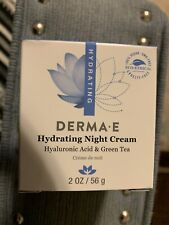 DERMA E~ Night Cream~Hydrating Hyaluronic Acid & Green Tea Cream ~2oz- Brand New