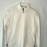 Head Women's Medium White 1/4 Zip Pullover Fleece Jacket Vintage