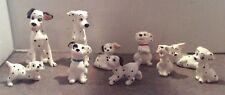 10 Disney 101 Dalmatians Ceramic Figurines Pongo, Perdita and 8 Puppies