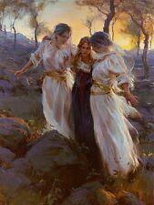 """DANIEL GERHARTZ - """" HIND'S FEET""""- CHRISTIAN ART ON CANVAS - NEW"""