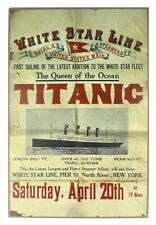 Titanic Return Sailing Medium Vintage Wooden Sign 200mm x 300mm (sg)