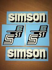 Set Simson Wasserabziehbilder Abziehbilder S51B Tank + Seitendeckel (Rand grau)