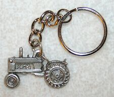 Farm Tractor Fine Pewter Keychain Key Chain Ring USA Made