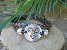 Infinity Multi Braid Leather Cord Tribal Surf Hippie Unisex Bracelet