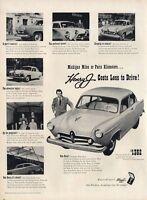 1951 Kaiser & Frazer's PRINT AD Henry J.Great Detailed Vintage Decor