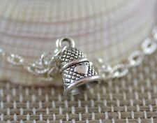 NT034 Thimble Necklace, Peter Pan And Wendy, Kiss, Wife, Girlfriend, Love