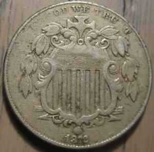1872 Shield Nickel Semi-Key Date Sharp XF Superb Reverse