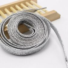 Lacci Scarpe Colorati Glitter, Shoe laces Metallic  Silver Argento
