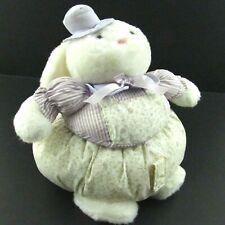 Vintage Rabbit Plush Easter Bunny Basket TL Toys 1990 Purple Stuffed Animal Toy