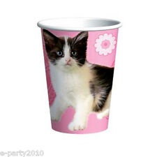 KITTEN Purrfect 9oz PAPER CUPS (8) ~ Birthday Party Supplies Beverage Drinking