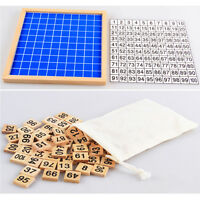 1-100 Consecutive Numbers Counting Toy Wooden Hundred Board Math Education FN