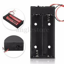 3.7V 2x 18650 Battery Holder Connector Storage Case Box ON/OFF Switch With Lead