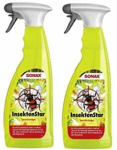 2x SONAX InsektenStar 2x 750 ml Insektenentferner Reiniger Doppelte menge