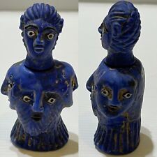 ancient phoenician quadra-faced diety idol temple ornament