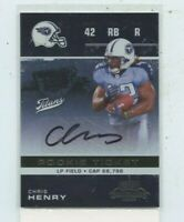 CHRIS HENRY 2007 Playoff Contenders Rookie Ticket Auto Autograph #127