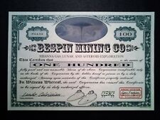 Star Wars Stock Certificate - Bespin Mining Company - New