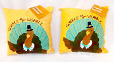 Kohl's Celebrate Fall Turkey Gobble Til You Wobble Velour Pillows Fall Decorati